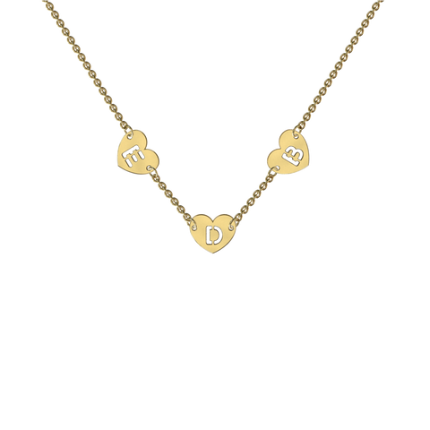 Yellow Gold Mini Shape Charm Necklace