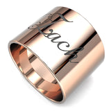 Wide Band Engraved Ring