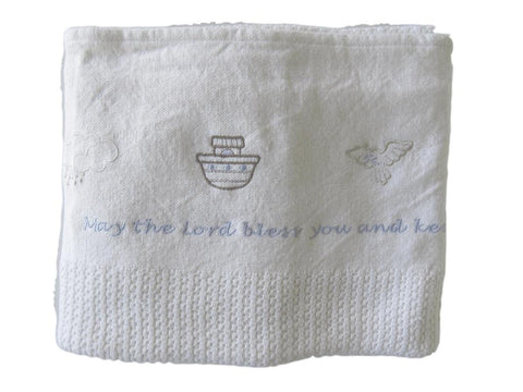 Noah's Ark Brocha Blanket - English