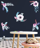 Feathering Flowers Wall Decal