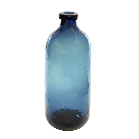 Small Dark Blue Bottle Vase