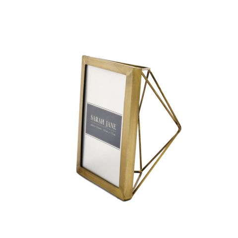Set of 4 Small Brass Photo Frames