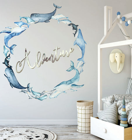 Whale of a Time Wall Decal