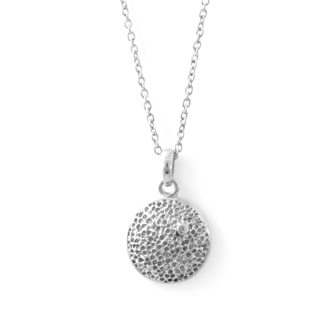 Diamond Hammered Necklace