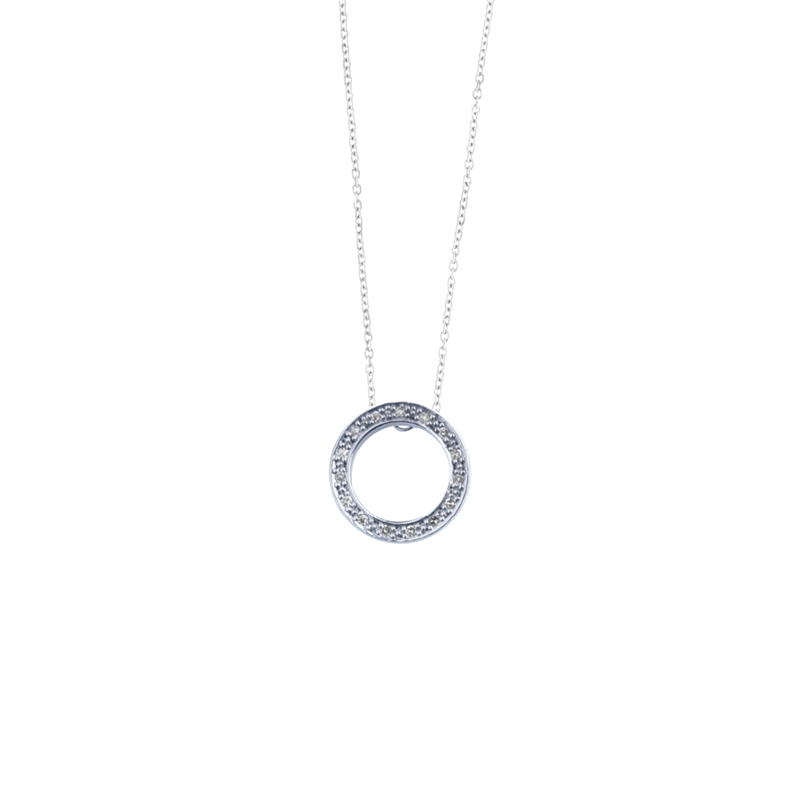 Diamond Open Halo Necklace