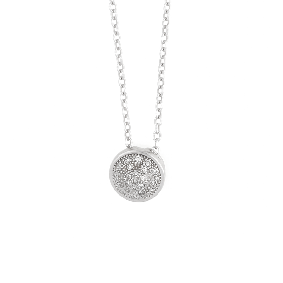 Diamond Solid Halo Necklace