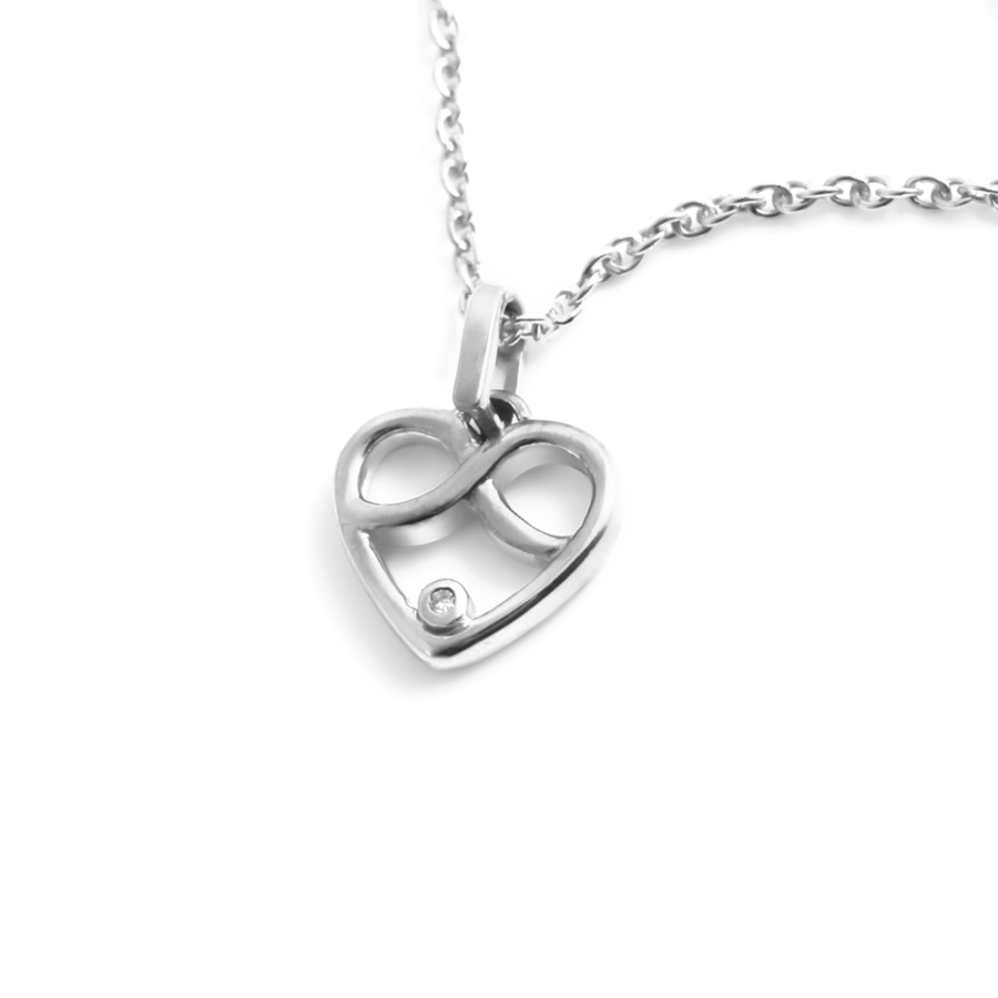 Diamond Infinity Heart Necklace