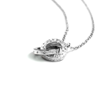 Diamond Double Circle Of Life Necklace