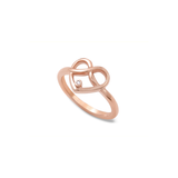 Diamond Infinity Heart Ring