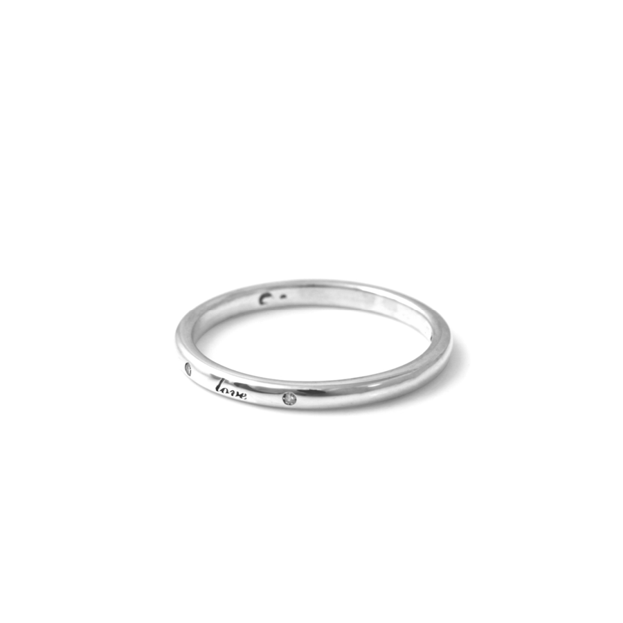 Diamond Love Wedding Band
