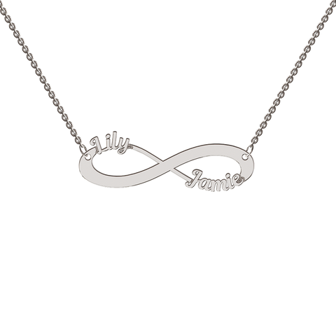 Sterling Silver Cutout Infinity Necklace