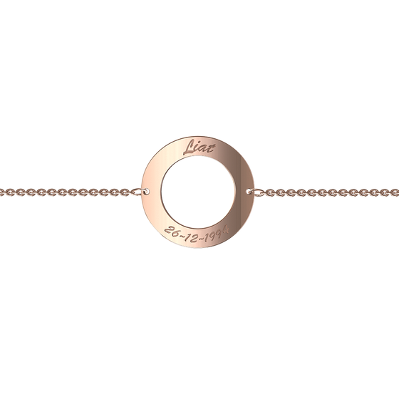 9k Rose Gold Circle of Life Bracelet