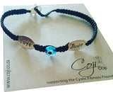 Coji Double Name Bracelet on Braided Cord