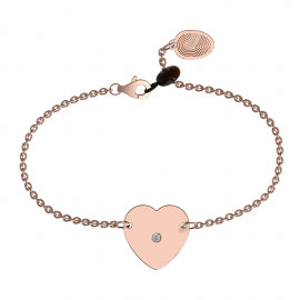 Rose Gold Diamond Heart Bracelet