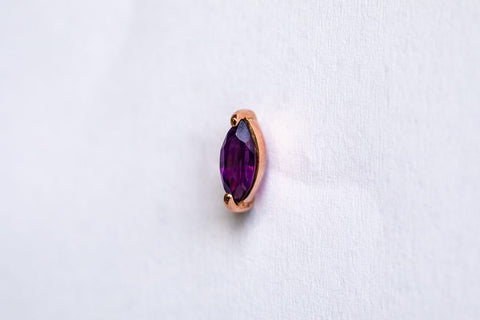 Amethyst Marquise Shaped Studs