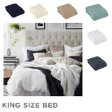 Cable Knit King Bed Throw