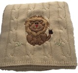 Snuggle Me Fluffy Lion Cable Knit Blanket