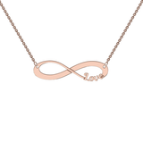 9k Rose Gold Cutout Infinity Necklace