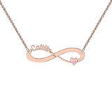 9k Rose Gold Cutout Infinity Necklace With Motif