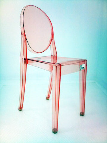 ... Replica Clear Colour Ghost Chairs   No Arms ...