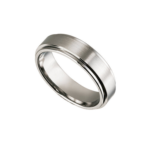 Men's Titanium Ring with Raised Centre