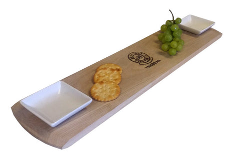 Trudeau Tapas Baguette Board with Dishes