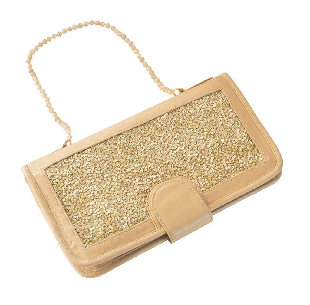 Elizabeth Patterson Classic Clutch in Golden Ivory with Citrine - Blumera