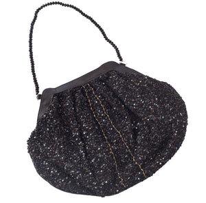 Elizabeth Patterson Small Purse in Black with Black Spinel and Black Agate - Blumera