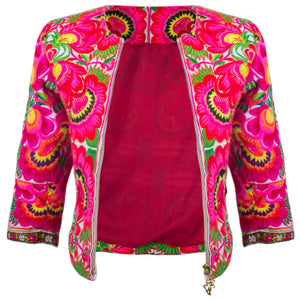 Fully Embroidered Bolero Jacket - Blumera