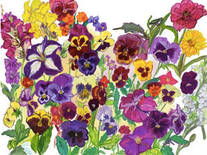 "Giclee Print of ""Noruz: Pansies and the First Flowers of Spring"" by Laurie Blum - Blumera"