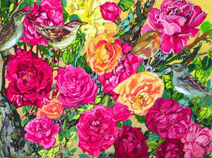 "Giclee Print of ""Rose and The Nightingale"" by Laurie Blum - Blumera"