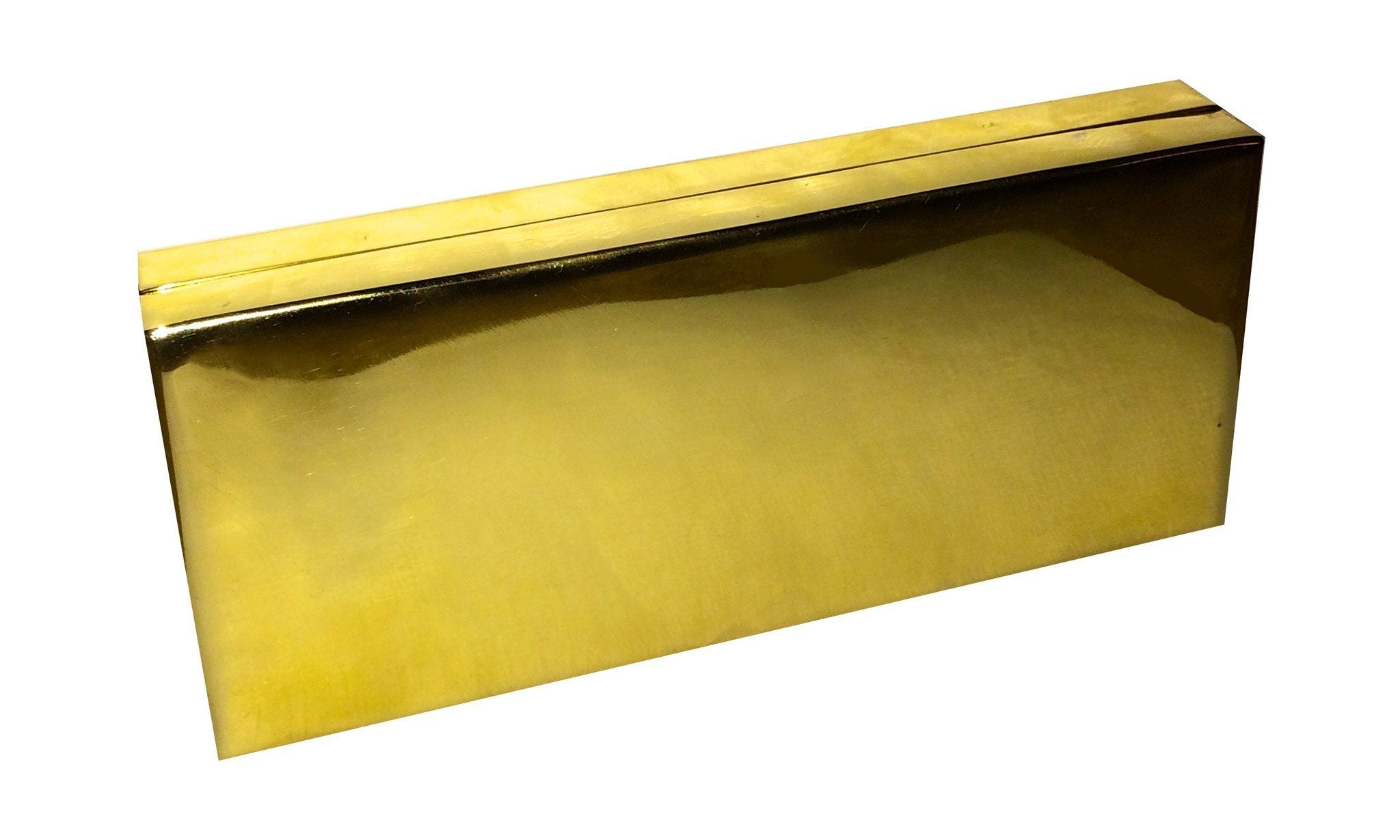 Gold Brass Handmade Clutch - Blumera