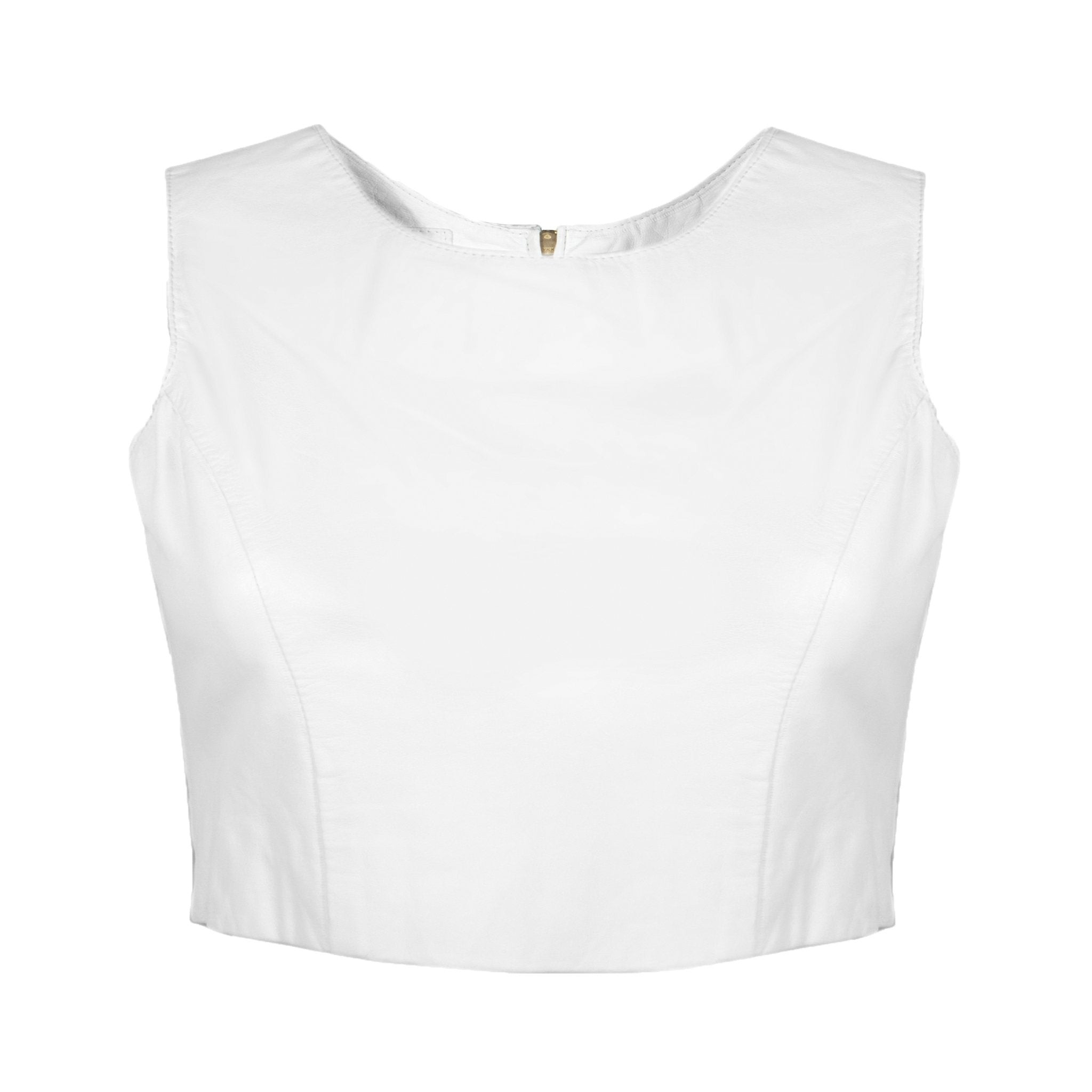 Lambskin Crop Top (available in more colors) - Blumera