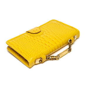 Meheru Classic Clutch in Vibrant Yellow - Blumera
