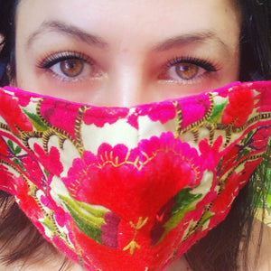 Nadine Embroidered Mask - Blumera