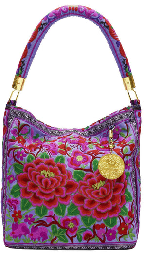 Nadine Purple Shoulder Bag - Blumera