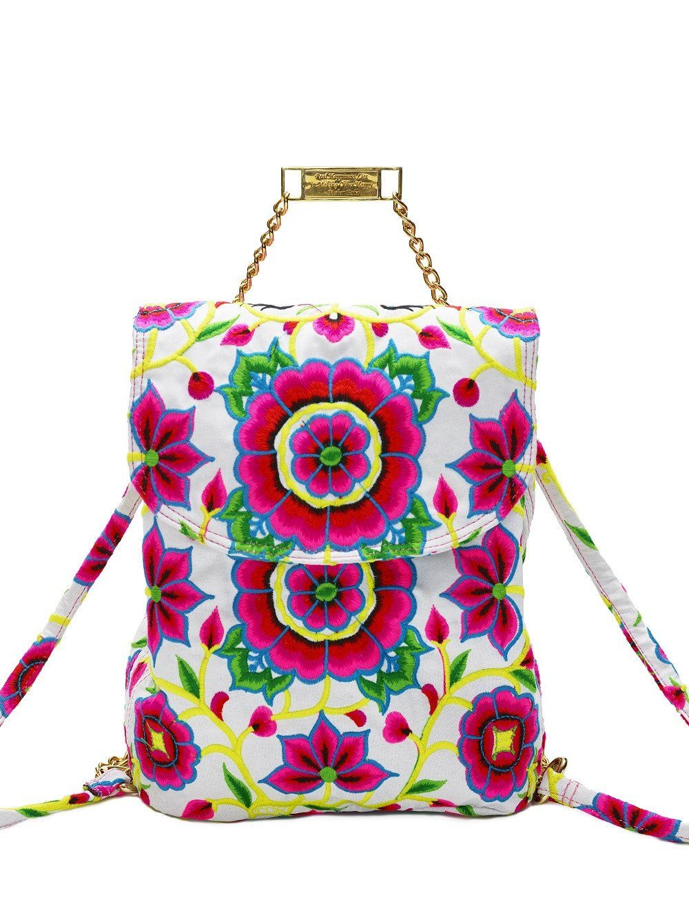 Nadine White Backpack - Blumera