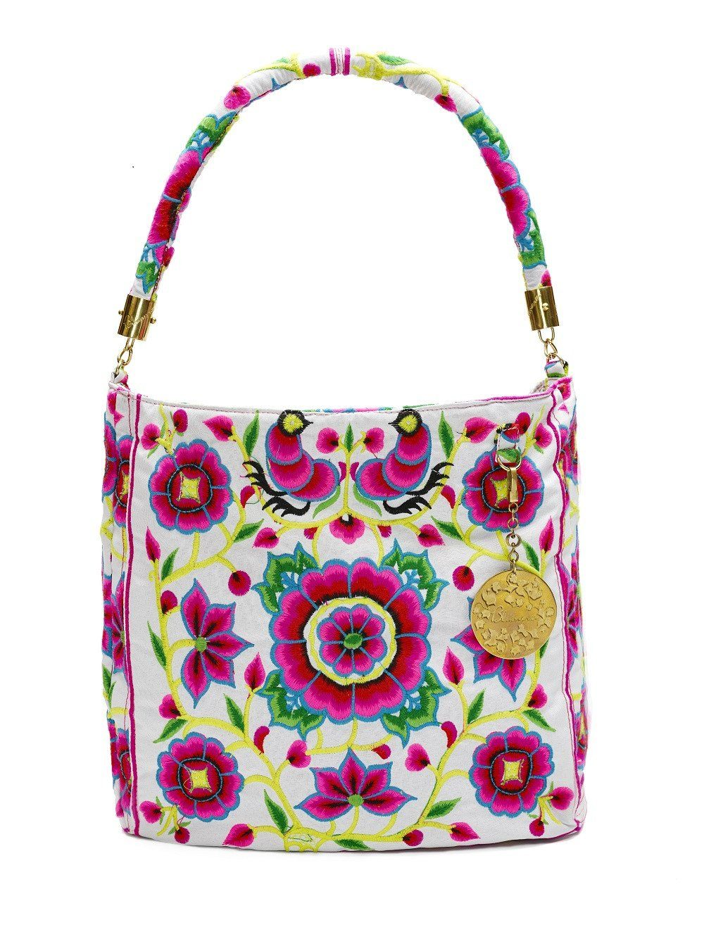 Nadine White Shoulder Bag - Blumera