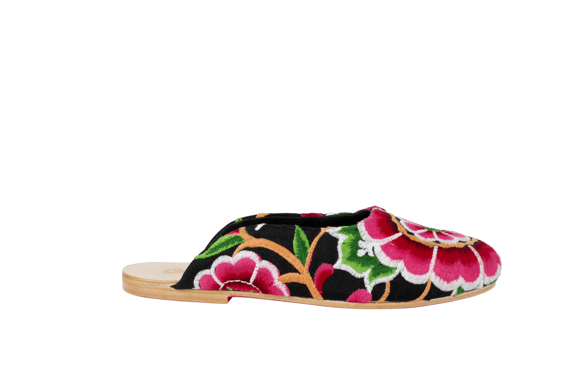 Nonny Embroidered Flats - Blumera
