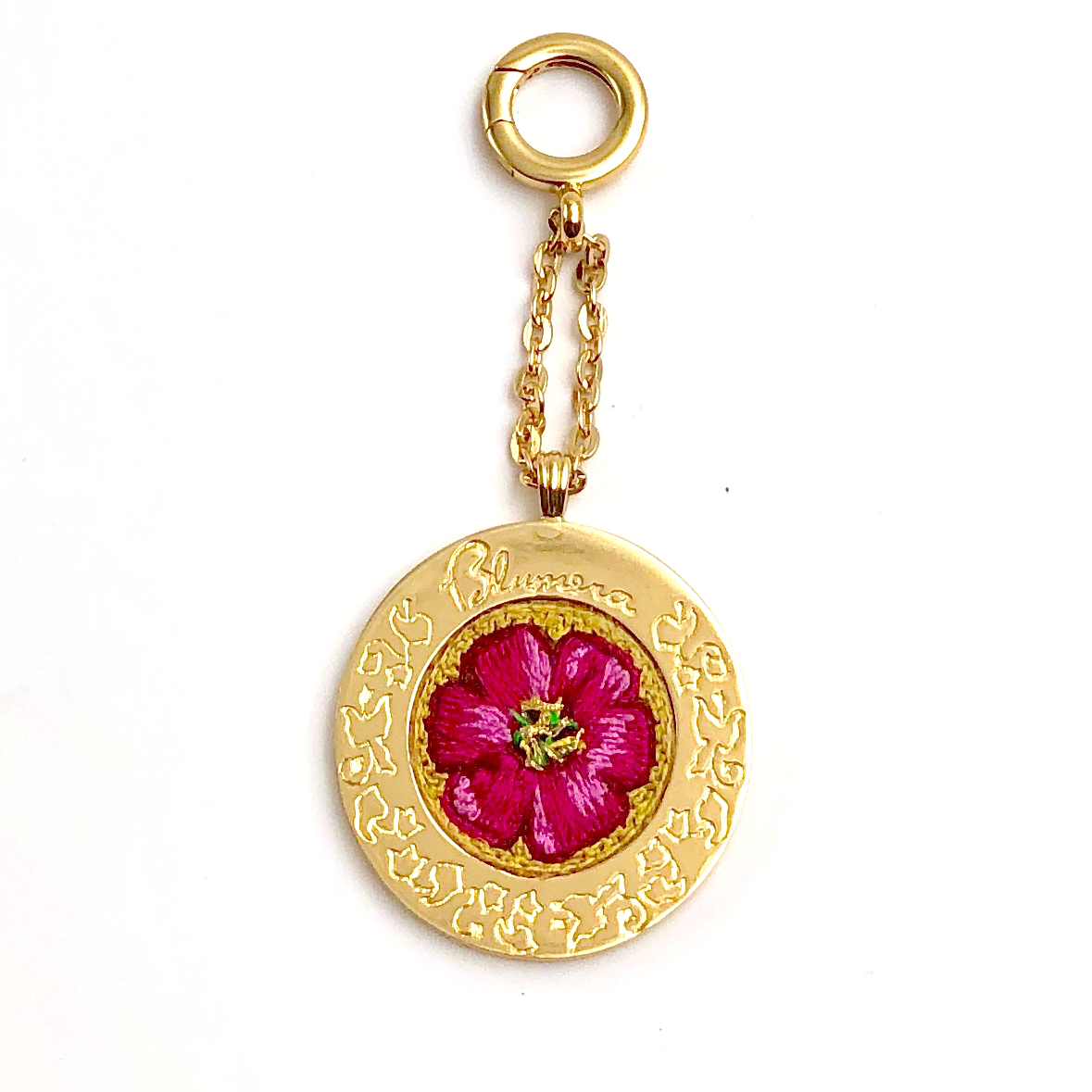 Poppies! Hand-Embroidered Medallion - Blumera