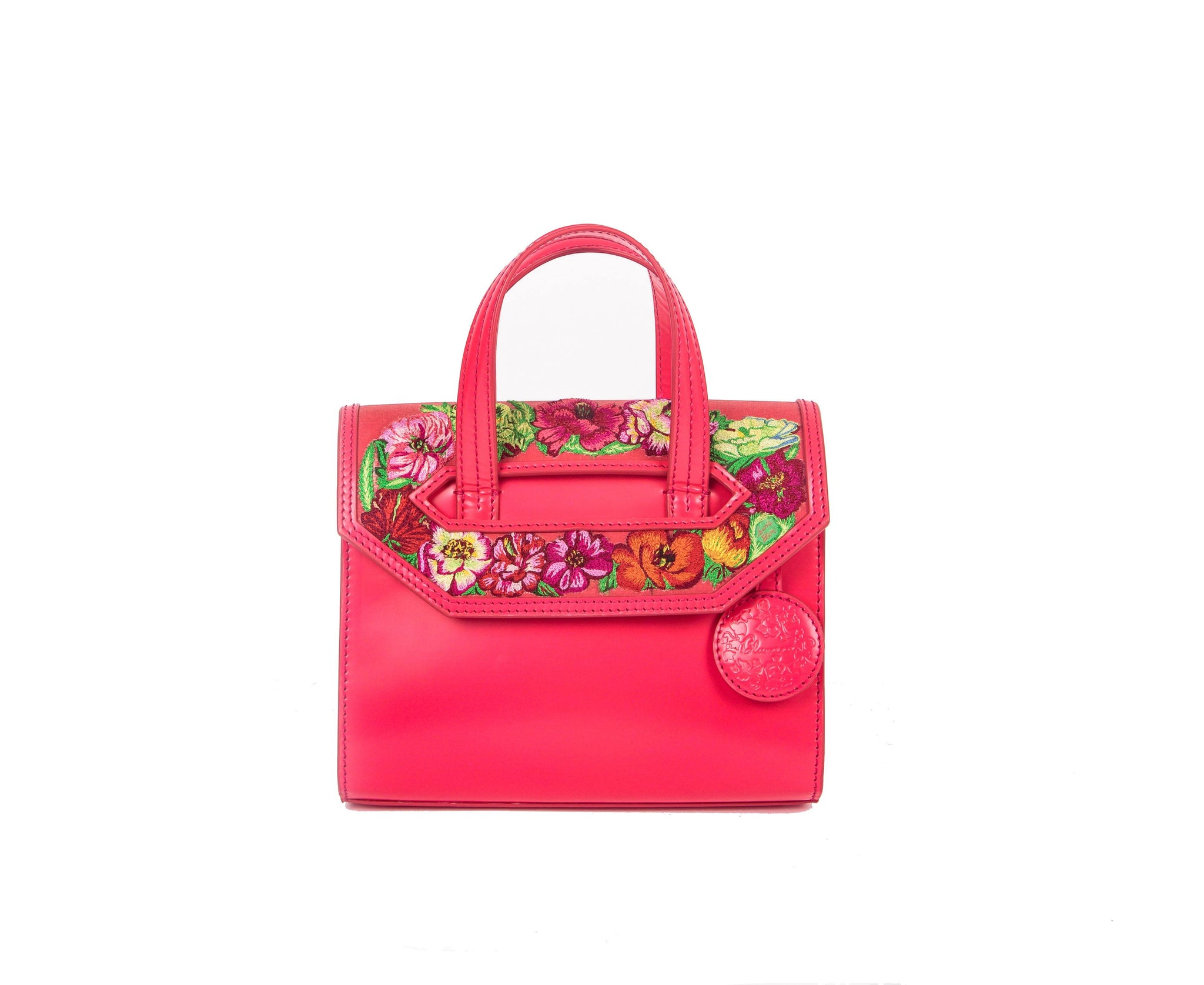 Poppies! Pink Mini Satchel - Blumera