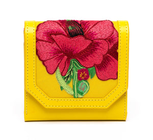 Poppies! Yellow Wallet - Blumera