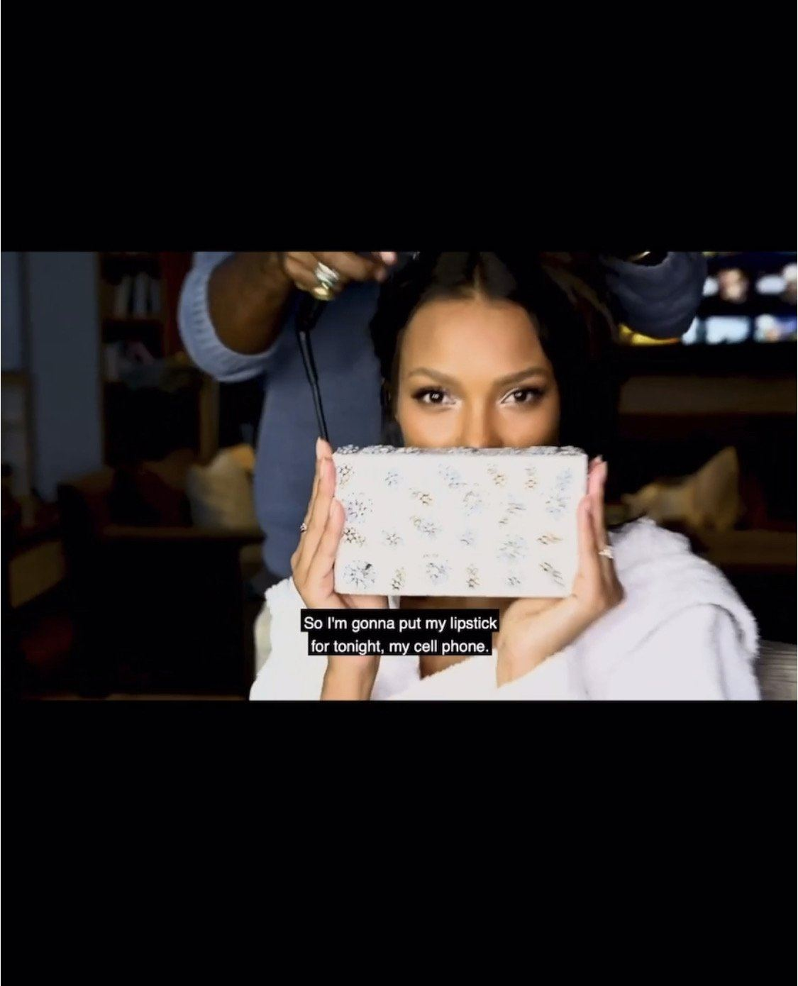 Shooting Star Crystal Encrusted Clutch - White - Blumera
