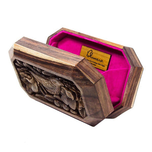 Sonokeling Wood Carved Clutch - Limited Edition - Blumera