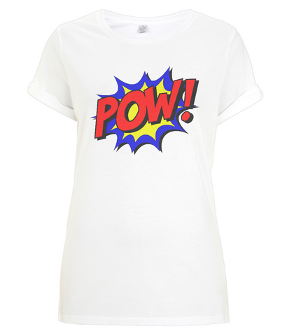 POW! Women's Rolled Sleeve T-Shirt
