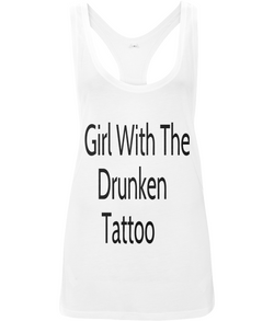 Girl With The Drunken Tattoo Low Cut Vest