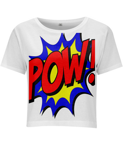 POW! Women's Cropped Jersey T-shirt