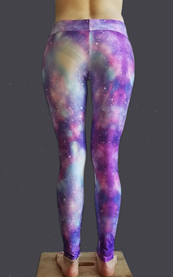 Purple Galaxy Yoga Leggings