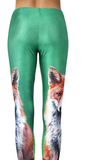 Fox Leggings by purple pop