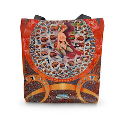 Granny Takes a Trip Psychedelic Tote Bag